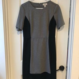 Loft black and gray dress size 4